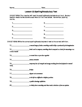 JourneysVocabulary Test, Word List for Antarctic Journal (