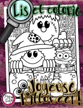 Lis et Colorie ~ Joyeuse Halloween!