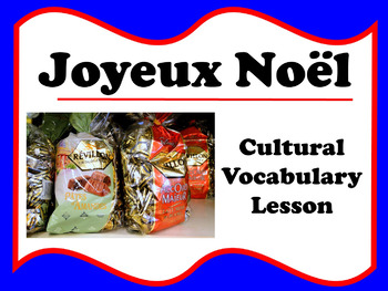Joyeux Noël Vocabulary Photograph Lesson