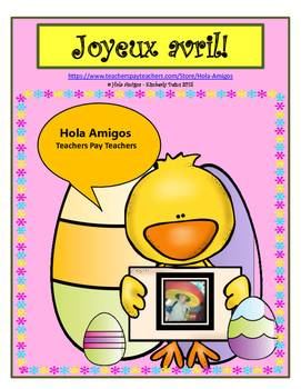 Joyeux avril! - Happy abril, five French color by number a