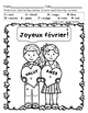 Joyeux février! - Happy February! French color by number (