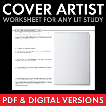 Judge a Book by its Cover, Fun Writing Activity, Use with