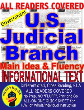 Judicial Branch Supreme Court FACTS Close Read 5 level Pas