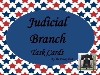 Judicial Branch Task Cards - 8th Grade