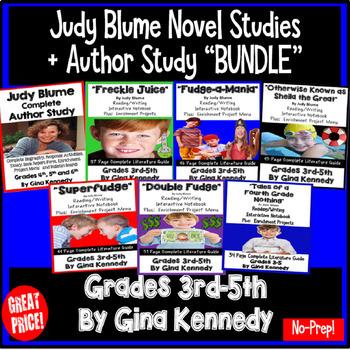 """Judy Blume """"Bundle"""", Five Complete Novel Studies, Plus: Au"""