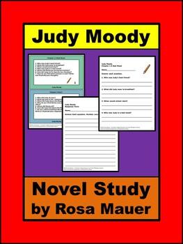 Judy Moody Book Unit