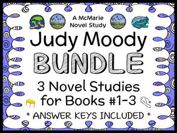 Judy Moody BUNDLE (Megan McDonald) 3 Novel Studies : Books