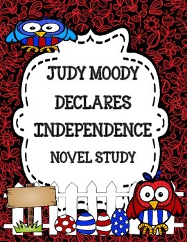 Judy Moody Declares Independence Novel Study