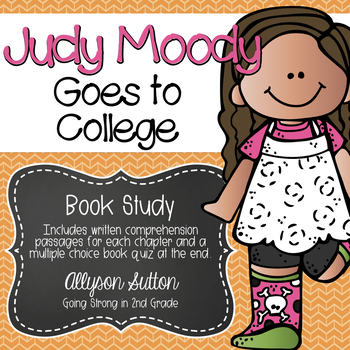 Judy Moody Goes to College Book Study