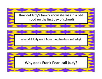 Judy Moody Question Cards
