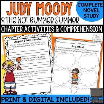 Judy Moody and the NOT Bummer Summer Novel Study