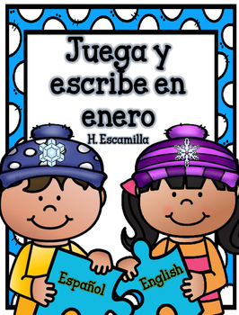 Juega y escribe en enero - Play and Write in Spanish