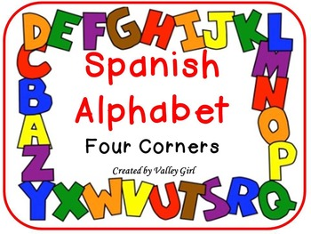 Four Corners: Spanish Alphabet Initial Sounds - Cuatro Esquinas