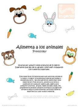 Juego bilingüe Alimenta a los animales Bilingual sorting g