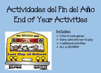 Juegos para el Fin del Ano End of year Games