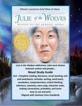 Julie of the Wolves ELA Novel Study Guide Complete and Printable
