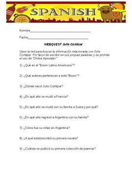 Julio Cortazar Webquest in Spanish