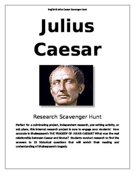 Julius Caesar Historical Scavenger Hunt
