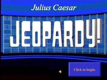 Julius Caesar Jeopardy Review Game
