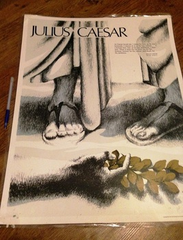 Julius Caesar Play by William Shakespeare 4 Quotes Posters
