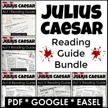 Julius Caesar Reading Guide, the ULTIMATE BUNDLE for the e