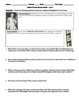 Julius Caesar Study Guide Packet