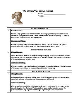 Julius Caesar Term Paper Prompts