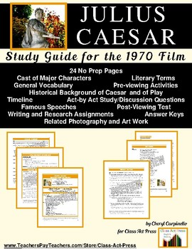 Julius Caesar: The Study Guide for the Film (20 Pages, Ans