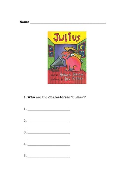 Julius the Pig Language Packet