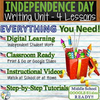 July 4th Writing BUNDLE! - Argumentative, Persuasive, Expo