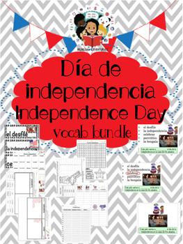 July 4th/El cuatro de julio  - Vocab Bundle and Literacy C