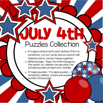 July 4th Puzzles Collection