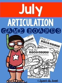July Articulation Game Boards