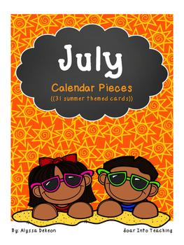 July Calendar Pieces