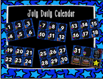 July Calendar Set FREEBIE