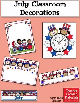 July Classroom Decorations by Karen's Kids (Digital Download)