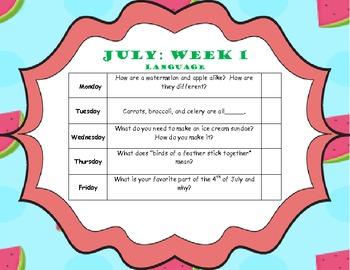 July Home Program (Elementary Language)