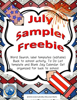 July Sampler Freebie