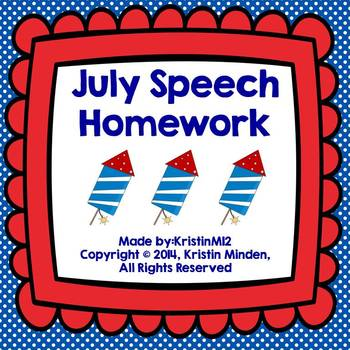 July Speech Homework