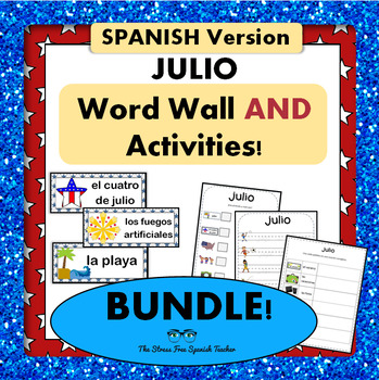 July / Summer / 4th of July Word Wall Cards AND Activities