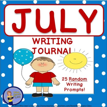 July Daily Writing Journal