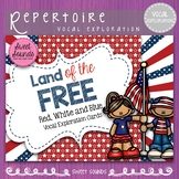 Memorial Day Land of the Free!  {Vocal Exploration Cards FREEBIE}