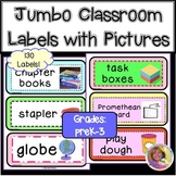 85 Jumbo Classroom Labels with Pictures for Year-Round Practice