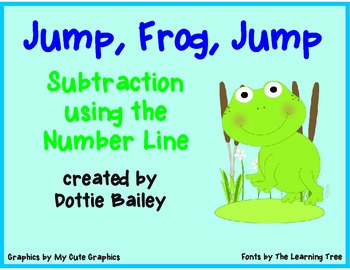 Jump, Frog, Jump Math Center- Subtraction using the Number Line