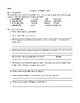 Jump Serve Comprehension and Vocabulary Packet