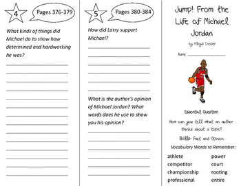 Jump! from the Life of Michael Jordan Trifold - Journeys 3