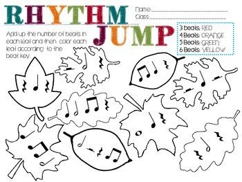 Jump into Rhythms Musical Math Fall Activity