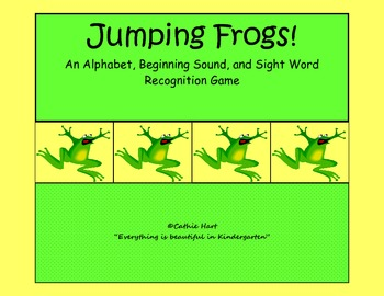 Jumping Frogs!  An Alphabet, Beginning Sound, and Sight Wo