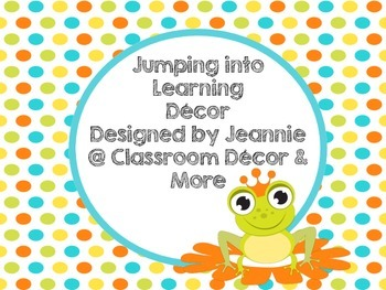 Jumping into Learning Class Decor