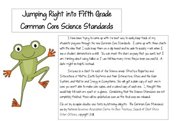 Jumping into the Fifth Grade Next Generation Science Standards